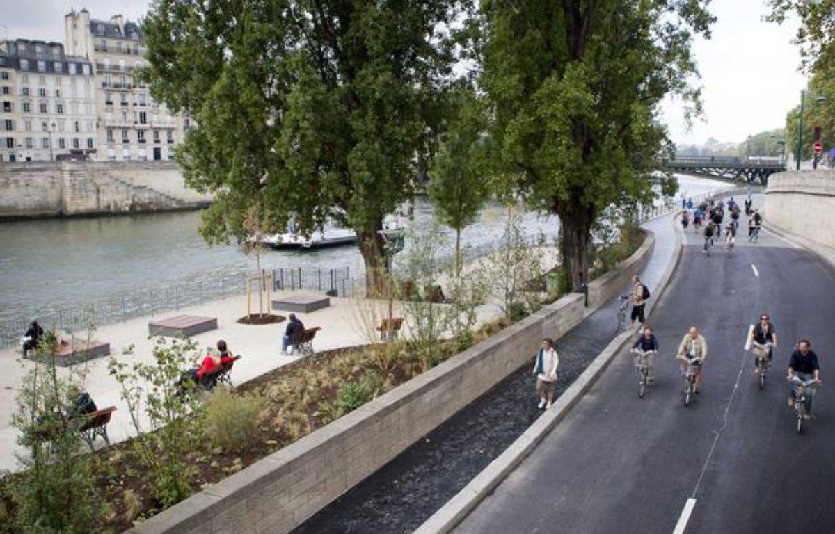 L'aménagement des berges de Seine, à Paris, le 2 septembre 2012. – VINCENT WARTNER / 20 Minutes