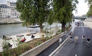 L'aménagement des berges de Seine, à Paris, le 2 septembre 2012.