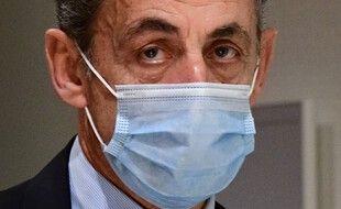 Paris, le 8 décembre 2020. Nicolas Sarkozy au tribunal judiciaire de Paris.