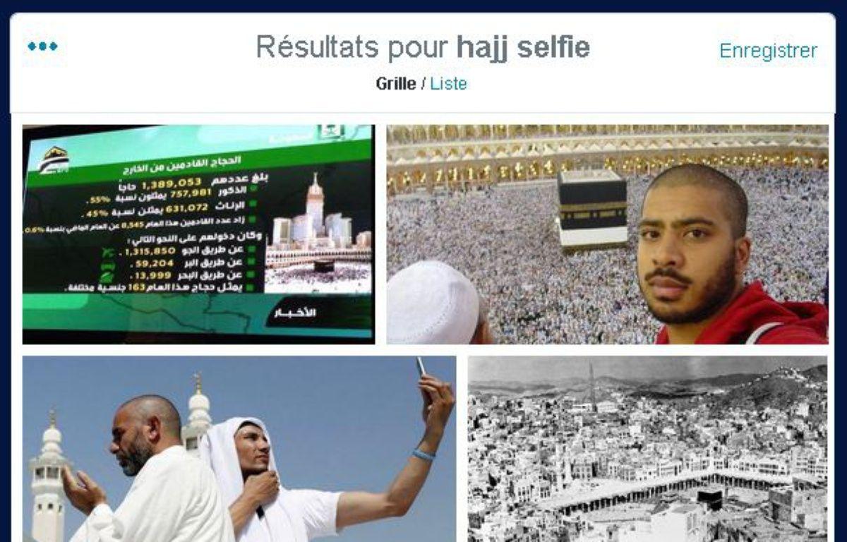 Les selfies au premier jour du hajj, à La Mecques, le 2 octobre 2014. – TWITTER