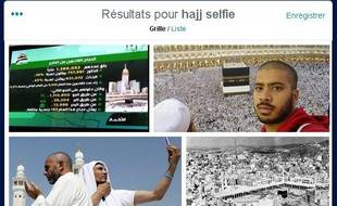 Les selfies au premier jour du hajj, à La Mecques, le 2 octobre 2014.