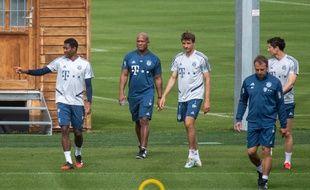 Les joueurs du Bayern Munich, comme ceux des autres clubs allemands, ont repris l'entraînement par petits groupes depuis le 6 avril.