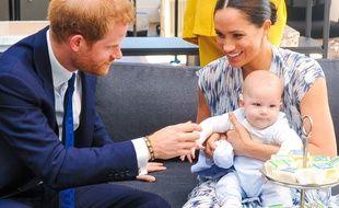 Le prince Harry, Meghan Markle et leur fils Archie en septembre 2019.