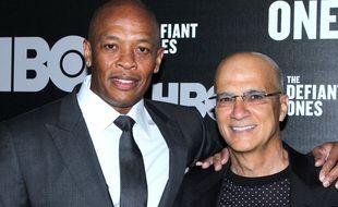 Le rappeur Dr. Dre et le producteur Jimmy Iovine