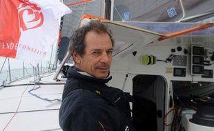 Le skipper Marc Guillemot, l'un des concurrents du Vendée Globe 2012.