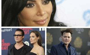 Kim Kardashian, Angelina Jolie et Brad Pitt, Johnny Depp et Amber Heard... Les personnalités qui ont marqué 2016