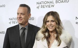 (Illustration) L'acteur Tom Hanks et son épouse Rita Wilson, à New York en septembre 2018.
