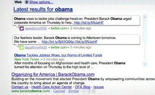 Les résultats temps réel de Google sont intégrés dans une boîte dédiée
