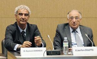 Raymond Domenech et Jean-Pierre Escalettes auditionnés devant l'Assemblée, le 30 juin 2010.