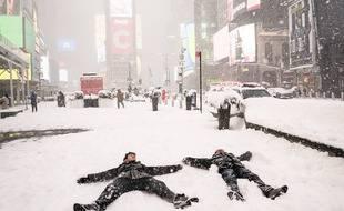Times Square, le lundi 1er février 2021, dans le quartier de Manhattan à New York.