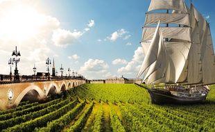 L'affiche de la 20e édition de la fête du vin à Bordeaux.
