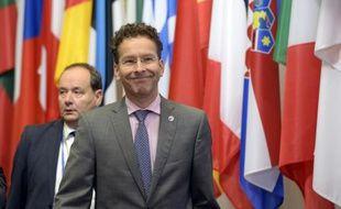Le président de l'Eurogroupe Jeroen Dijsselbloem à l'issue du sommet le 13 juillet 2015 à Bruxelles