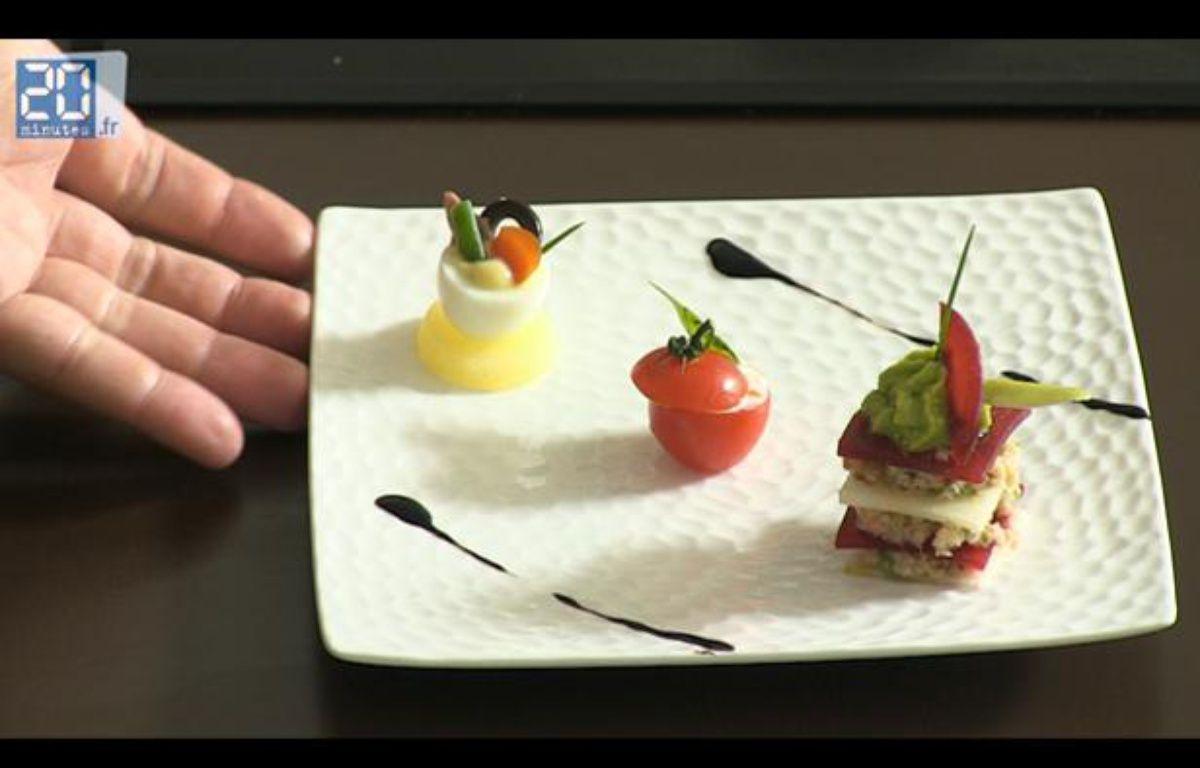 Capture d'écran de l'assiette de mises en bouche réalisée par Alexis Braconnier – 20 MINUTES
