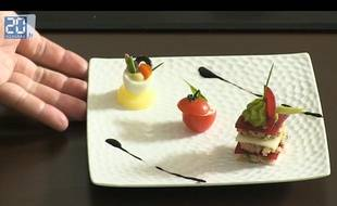 Capture d'écran de l'assiette de mises en bouche réalisée par Alexis Braconnier
