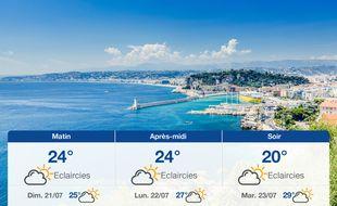 Météo Nice: Prévisions du samedi 20 juillet 2019