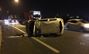 Un accident a eu lieu le 24 janvier 2017 au petit matin, sur l'autoroute A64 près de Toulouse.