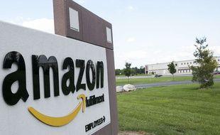 Devanture d'un «fulfillment center» d'Amazon en Pennsylvanie.