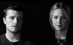 Josh Hutcherson et Jennifer Lawrence dans un spot contre le virus Ebola