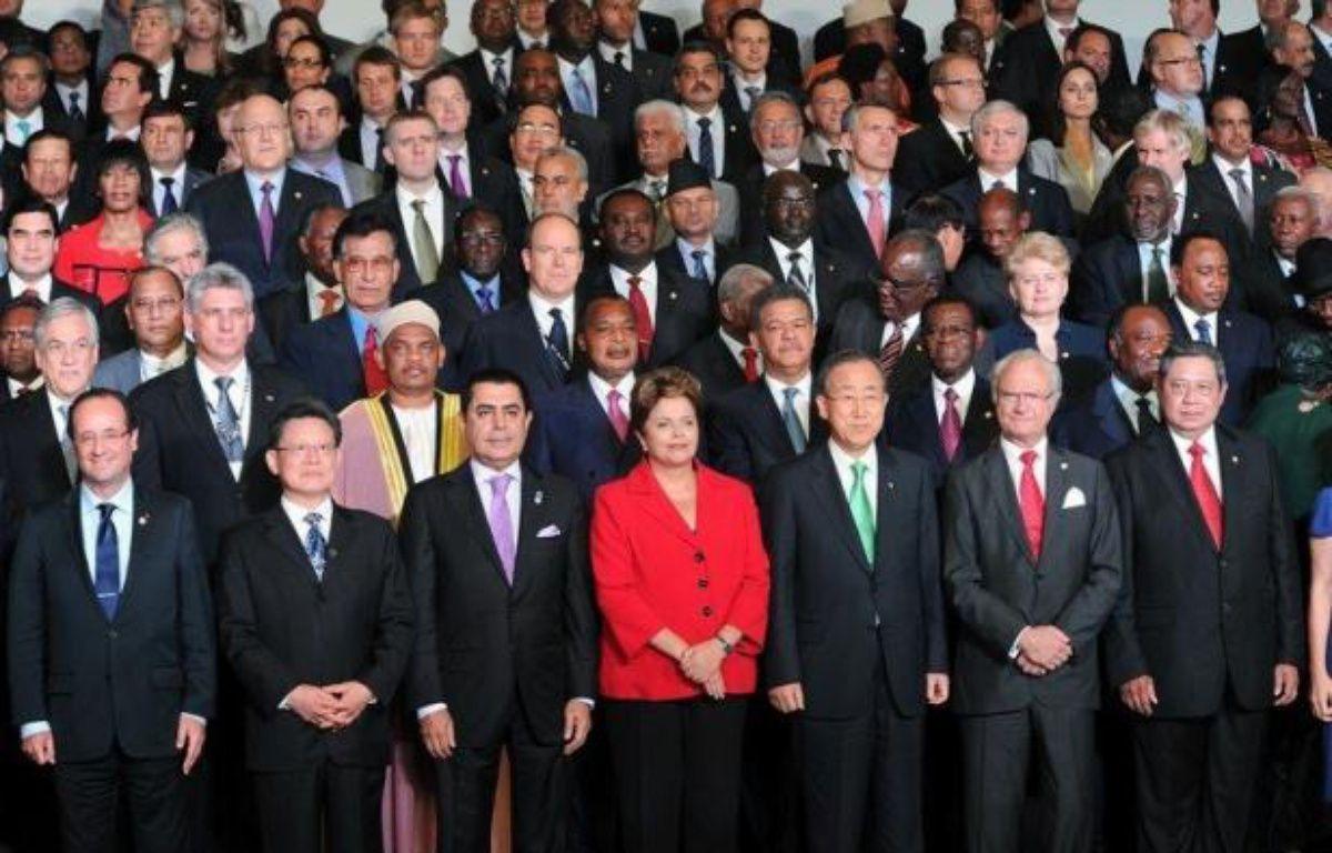 Un sommet de l'ONU sur le développement durable s'est ouvert mercredi à Rio de Janeiro par des appels urgents à l'action, afin de mettre la planète sur un chemin plus écologique et social. – Evaristo Sa afp.com