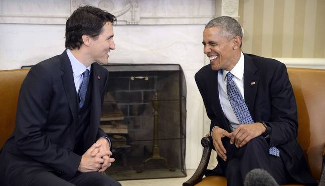 Les deux dirigeants se gondolent dans le Bureau ovale à la Maison-Blanche, le 10 mars 2016.