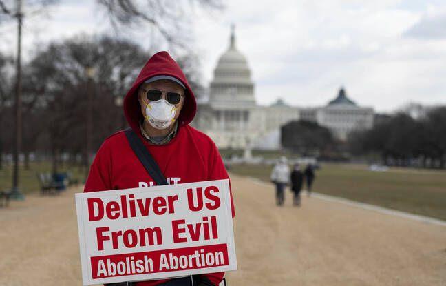 648x415 un militant contre l avortement lors d une marche a washington le 29 janvier 2021