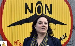 Emmanuelle Cosse état à Notre-Dame-des-Landes le 4 novembre 2015 pour dire «non» à l'aéroport.