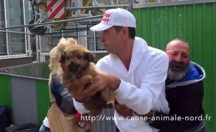 Capture d'écran de la vidéo qui met en cause Cause animale Nord.