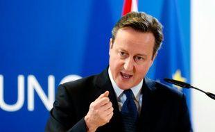 Le Premier ministre britannique David Cameron à Bruxelles le 17 décembre 2015