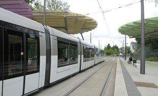 Station de tram terminus de la Robertsau à Strasbourg. Un prolongement de la ligne est  prévu. (Archives)