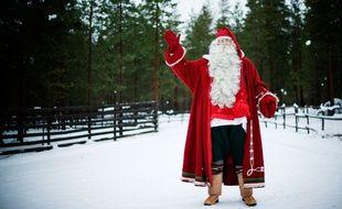 Le père Noël dans son village de Rovaniemi en Laponie.