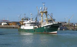 Un bateau de pêche dans le port de Boulogne-sur-Mer (illustration).