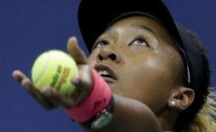 Naomi Osaka pendant son match contre Serena Williams en finale de l'US Open, le 8 septembre 2018.