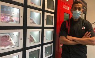 La boucherie Borderouge vient de mettre en service ce système de casiers réfrigérés en libre-service 24h/24 7j/7.