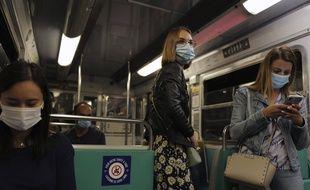Dans une rame du métro parisien, le 5 septembre 2020.
