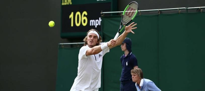 Stefanos Tsitsipas à Wimbledon, en 2018.
