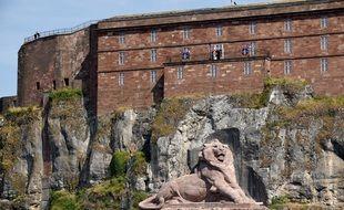 La Citadelle et le Lion de Belfort en Bourgogne-Franche-Comté