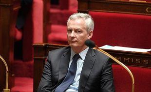 Bruno Le Maire lors de l'intervention d'Edouard Philippe à l'Assemblée, mardi.