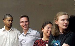 Joël, Victor, Camille et Enora participent au concours d'éloquence de Nantes Nord