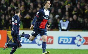Ibrahimovic ouvre le score contre Nantes, à la Beaujoire, en demi-finale de la Coupe de la Ligue