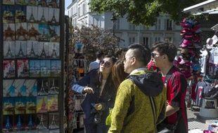 Des touristes chinois à Montmartre