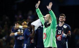 Vincent Gérard, élu homme du match lors de la demi-finale du Mondial France-Slovénie, le 26 janvier 2017 à Bercy.