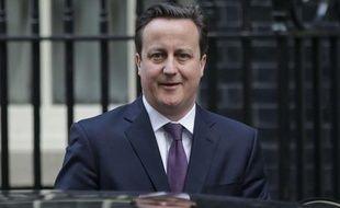 Le Premier ministre britannique David Cameron, le 16 janvier 2013, devant le 10 Downing Street, à Londres.