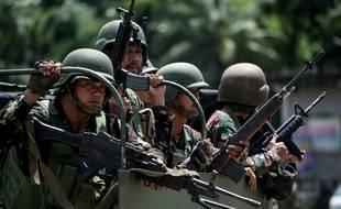 L'armée philippine à Marawi dans le sud du pays le 10 juin 2017.