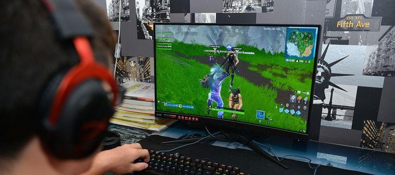 Un joueur de Fortnite en juin 2019.