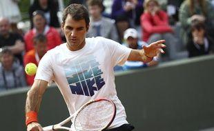 Roger Federer à Paris durant Roland-Garros, le 3 juin 2013.