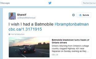 Le bolide circulait tranquillement sur une autoroute, au nord de Toronto...