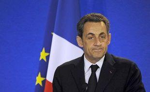 Nicolas Sarkozy le 14 avril 2012, à Perpignan (Pyrénées orientales).