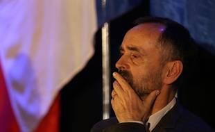 Robert Ménard, le maire de Béziers, lors d'une réunion publique à Sète.