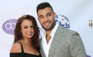 La chanteuse Britney Spears et son fiancé Sam Asghari