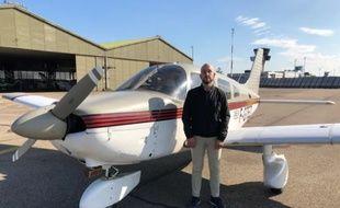 Olivier Koeble, pilote privé et handicapé visuel.